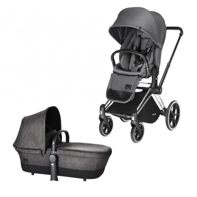 cybex kinderwagen priam gestell chrome radset trekking. Black Bedroom Furniture Sets. Home Design Ideas