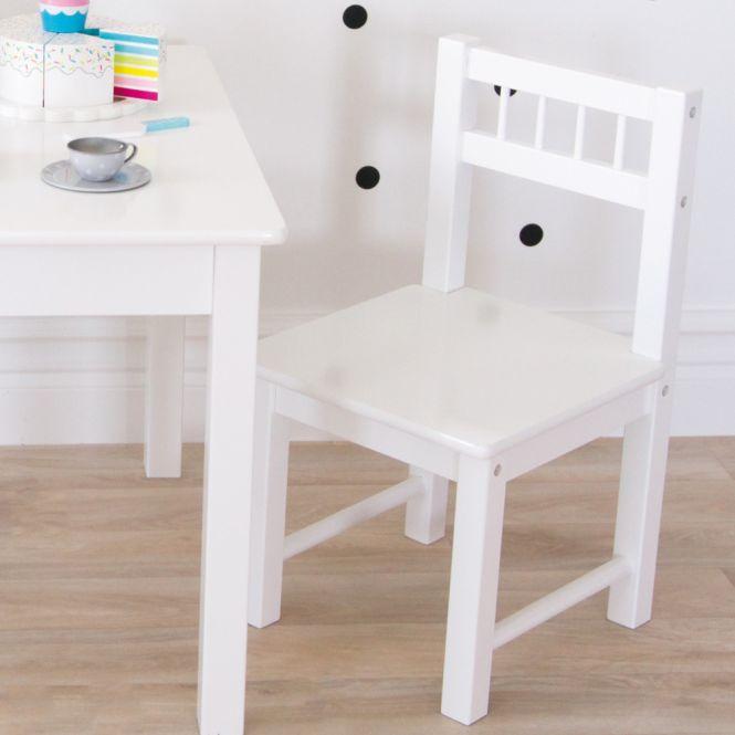 Holz Kinderstuhl weiß 28x30x50cm von JaBaDaBaDo