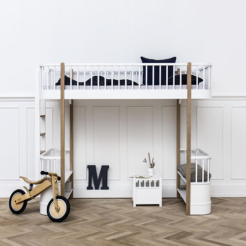 Oliver Furniture Hochbett WOOD COLLECTION, 90x200cm, Höhe: 176cm