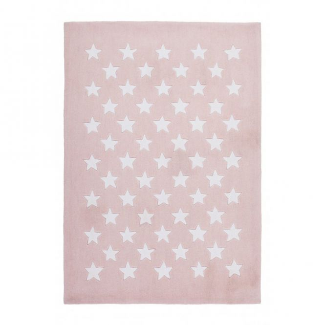Kinderteppich / Teppich MULTI STAR, 120x170cm, pastell-rosa