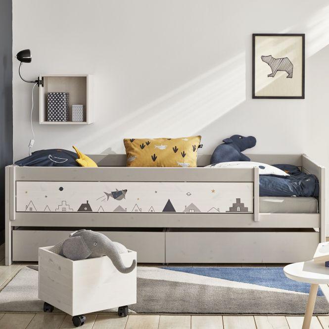 LIFETIME Dekorblende/ Rausfallschutz für Betten Space Dream