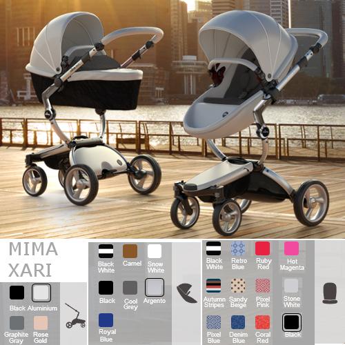 MIMA Komplett Kinderwagen XARI, Gestell Alu, ab der Geburt