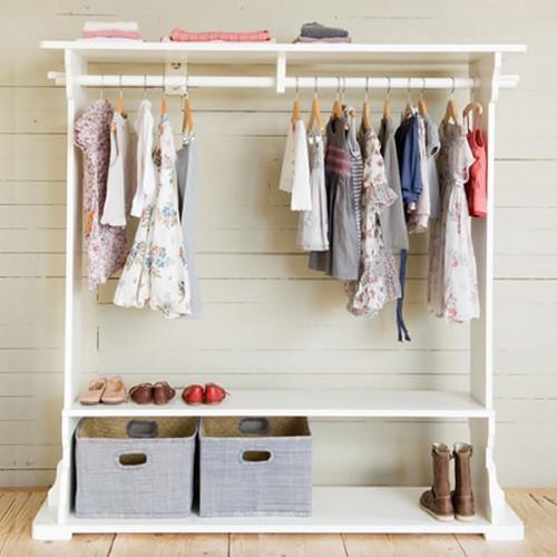 Opsetims Garderobe ROMY, Massivholz, weiß, 160x150x35cm