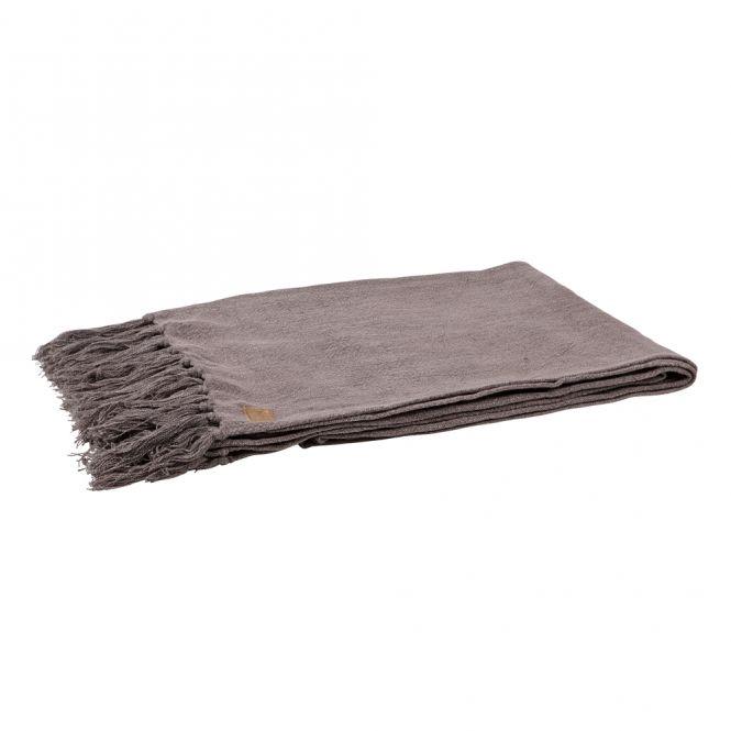 Plaid / Quilt / Tagesdecke PURE, grau, 130x170cm
