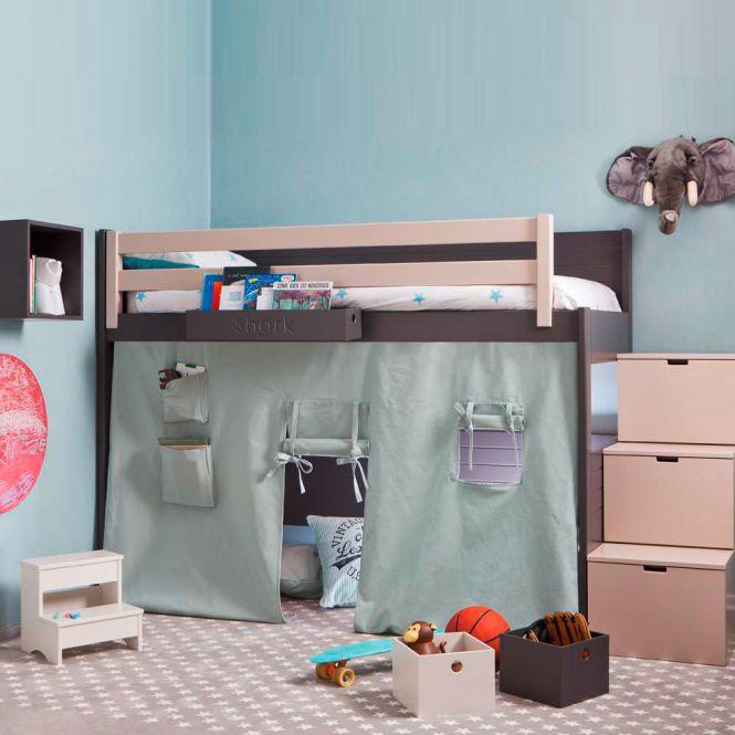 asoral hochbett loft liso mit treppe 3 stauraum. Black Bedroom Furniture Sets. Home Design Ideas