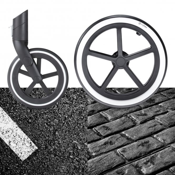 cybex priam kinderwagen gestell chrome mit radset trekking. Black Bedroom Furniture Sets. Home Design Ideas