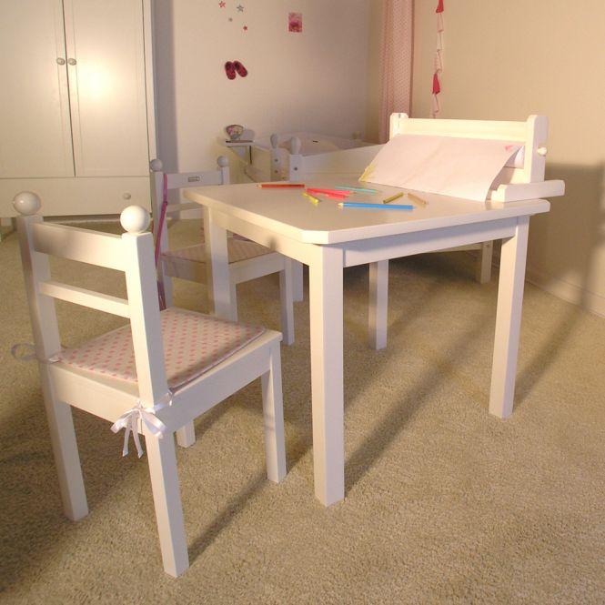 Bio Kindermobel ORGANIC Kindertisch Maltisch Massivholz Weiss Made