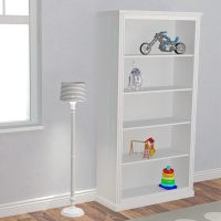 Kinderregale Bücherregal ROOMSTAR 5 Fächern, Holz weiß, 100x40x190cm