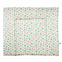 Wickeldecke ANNA, 100% Baumwolle, 84x76cm, rosa-mint