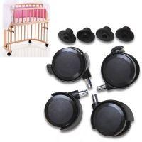 4er Set Rollen für Babybay Anstellbett ORIGINAL, MIDI, MINI, MAXI
