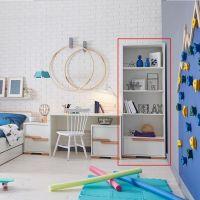 Bücherregal SCANDI Kinderzimmer Regal mit Schublade - Soft Close, weiß, Buche, 70,5x45x195cm