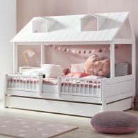 BEACH HOUSE Kinderbett / Spielbett von Lifetime, Massivholz weiß, Hausbett in 3 Größen 120x200cm | Deluxe Lattenrost