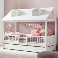 BEACH HOUSE Kinderbett / Spielbett von Lifetime, Massivholz weiß, Hausbett in 3 Größen 90x200cm | Deluxe Lattenrost