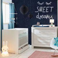 Babybett CARLA Gitterbett weiß mit 2 Schlupfsprossen und Lattenrost 120x60cm - Wahlweise mit Bettschublade