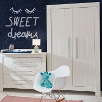 2-türiger Kleiderschrank CARLA MDF weiß, Soft Close, 110,7 x 56 x 204,8cm