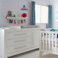 Wandregal CARLA Kinderzimmer Hängeregal weiß, MDF, 90,9 x 17,8 x 21,2cm
