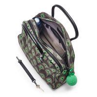 Littlephant Day Bag - Handtasche ZIRKUS, grau/grün, Baumwolle mit Lederdetails