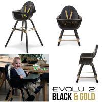 Childwood 2in1 Design Kinderhochstuhl EVOLU 2, schwarz-gold Special Edition