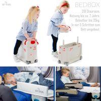 JETKIDS Bedbox ROT - 3in1 Flugzeug Bett, Aufsitz-Koffer 20l Stauraum - Nur 3kg Eigengewicht