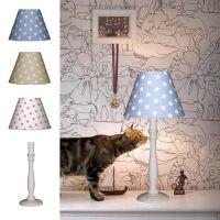 Kindertischlampe STERNE + Fuß SVEA, Baumwolle / Holz, E14