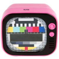 Kinderwecker / Wecker TV LED, pink