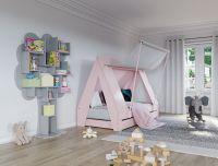 Mathy by Bols Zeltbett rosa 90x200cm inklusive Bettschublade