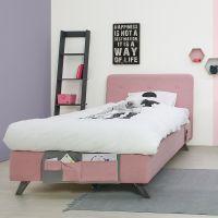 Bopita Boxspringbett LEVI für Teens rose, mit Betttaschen und Matratze 120x200cm