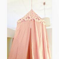 Baldachin Betthimmel FLAMINGO rosa weiß Durchmesser 60cm