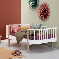 Oliver Furniture Juniorbettsofa / Kinderbettsofa WOOD COLLECTION, 90x160cm