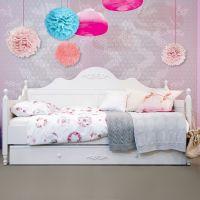 Bopita Tagesbett ROMANTIC, 90 x 200 cm, weiß