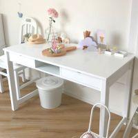 Schreibtisch ROOMSTAR, 120x60cm, 2 Schubladen + 1 Fach, weiss