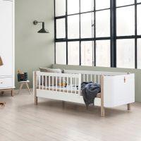 Oliver Furniture WOOD MINI+ Juniorbett, weiss/Eiche, Liegefläche 68x162cm