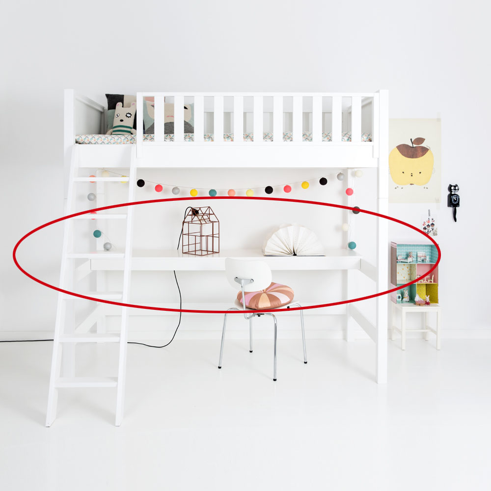 sanders hochbett schreibtisch fanny schneewei f r. Black Bedroom Furniture Sets. Home Design Ideas
