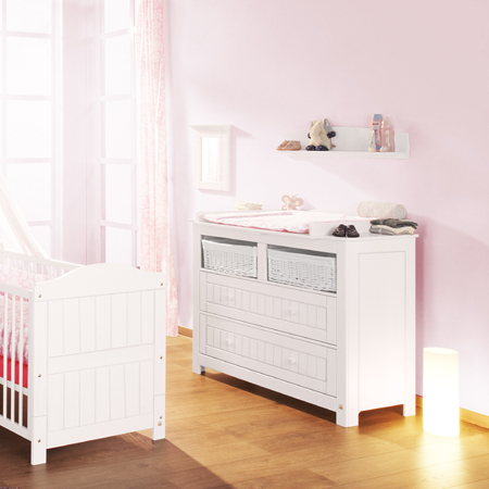 gro e wickelkommode kommode nina breit massivholz wei dannenfelser kinderm bel. Black Bedroom Furniture Sets. Home Design Ideas