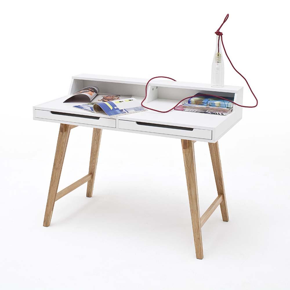 jugendschreibtisch tif wei gestell massivholz 110x58cm g nstig online kaufen. Black Bedroom Furniture Sets. Home Design Ideas
