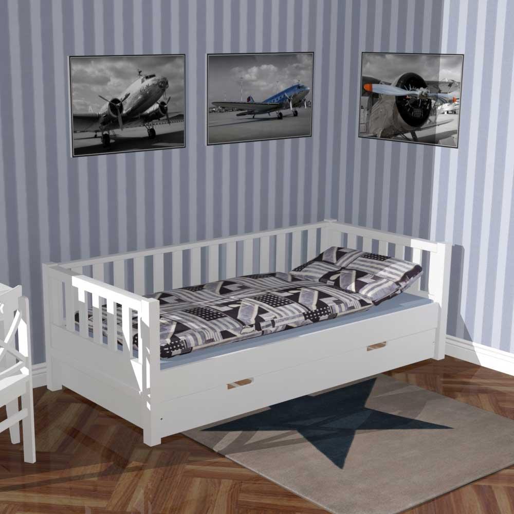 roomstar tagesbett weiss umbaubar inkl bettschublade mit gstebett - Modernes Tagesbett Mit Ausziehbett