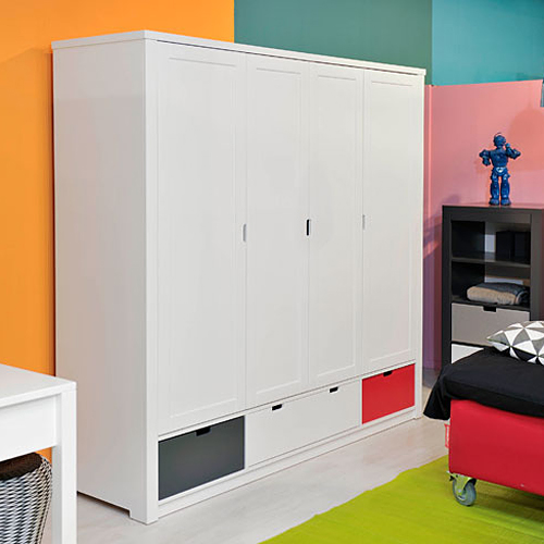bopita kleiderschrank luxe wei 4 t rig dannenfelser kinderm bel. Black Bedroom Furniture Sets. Home Design Ideas
