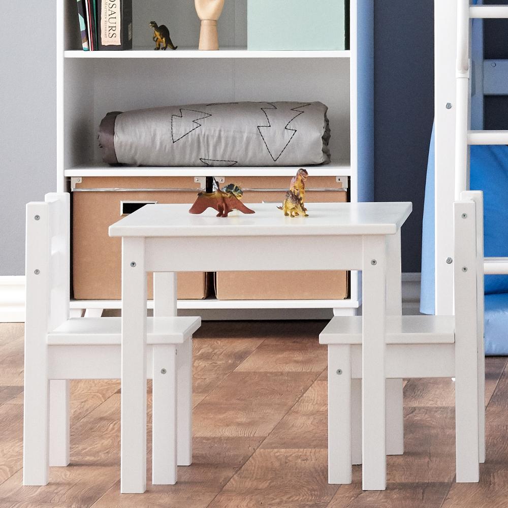 set kindertisch 2 st hle kindersitzgruppe mads holz wei dannenfelser kinderm bel. Black Bedroom Furniture Sets. Home Design Ideas