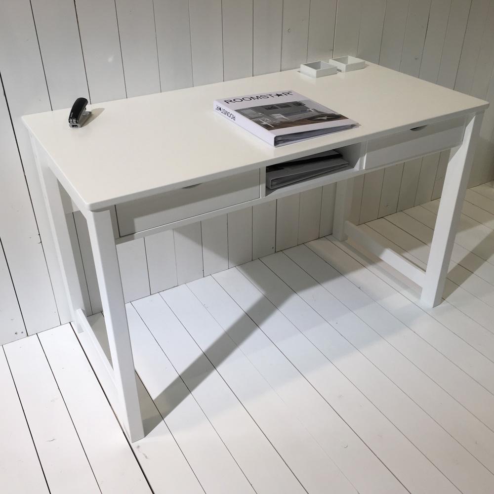 schreibtisch roomstar 120x60cm 2 schubladen 1 fach weiss dannenfelser. Black Bedroom Furniture Sets. Home Design Ideas