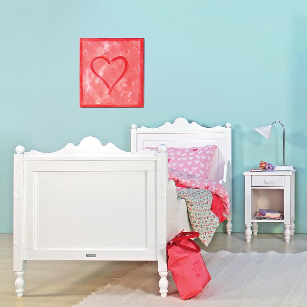bopita m dchenbett kinderbett belle 90x200cm wei. Black Bedroom Furniture Sets. Home Design Ideas