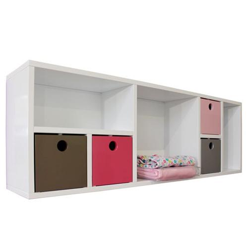 bopita wandregal sem wei wandelement mit 7 f chern dannenfelser kinderm bel. Black Bedroom Furniture Sets. Home Design Ideas