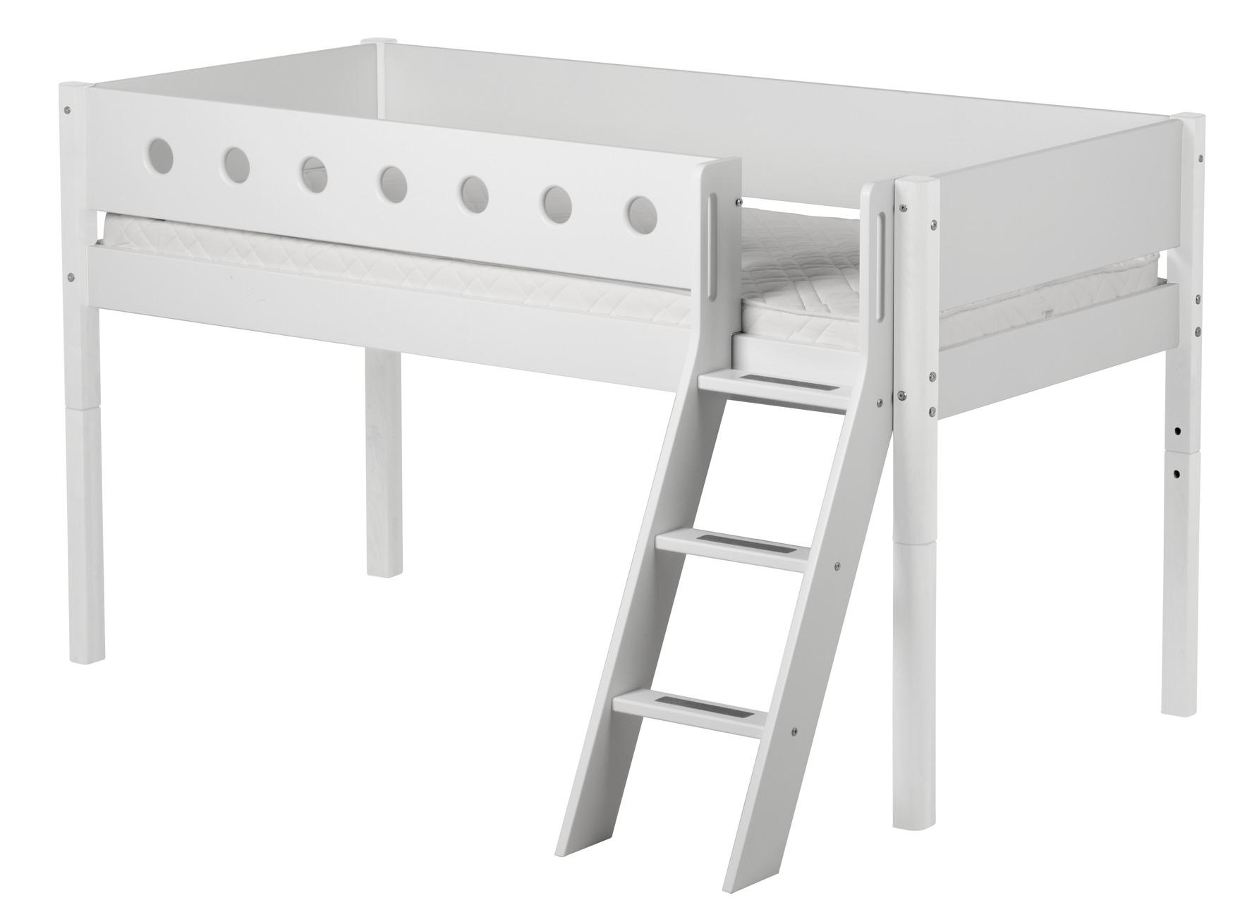 flexa halbhohes bett mit schr gleiter 90 x 190 cm h he 120 cm dannenfelser. Black Bedroom Furniture Sets. Home Design Ideas