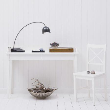 Oliver Furniture Konsolentisch / Schreibtisch mit 2 Schubladen, weiß ...