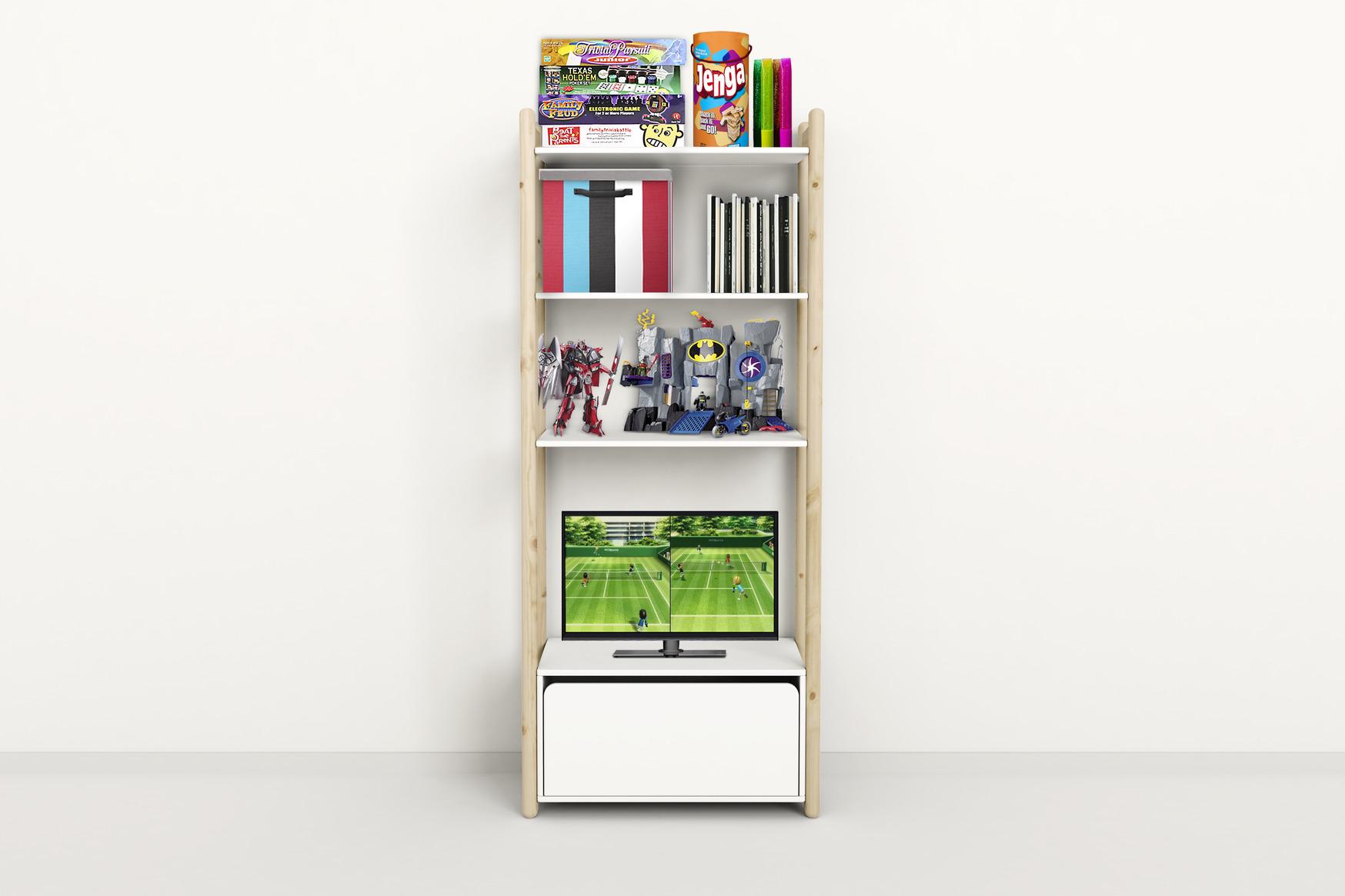 flexa regal shelfie mit schublade maxi b dannenfelser kinderm bel. Black Bedroom Furniture Sets. Home Design Ideas