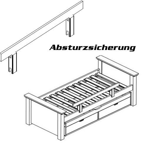 Rausfallschutz Absturzsicherung Kids Deluxe Weiss 100x26cm