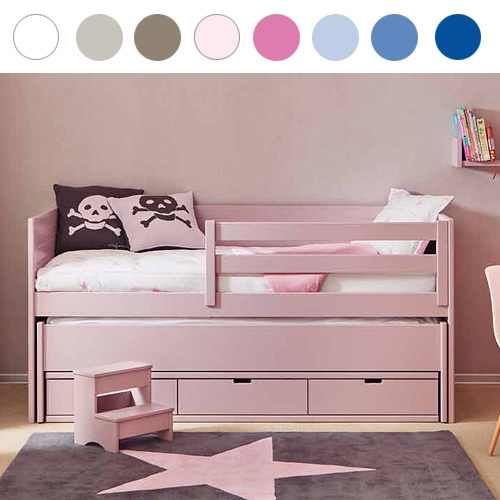 asoral kojenbett kinderbett movil cometa inkl g stebett massivholz 90x200cm dannenfelser. Black Bedroom Furniture Sets. Home Design Ideas