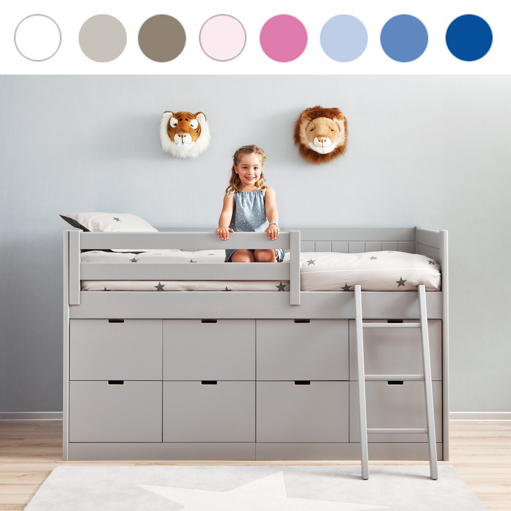 kinderbett mit stauraum neuesten design kollektionen f r die familien. Black Bedroom Furniture Sets. Home Design Ideas
