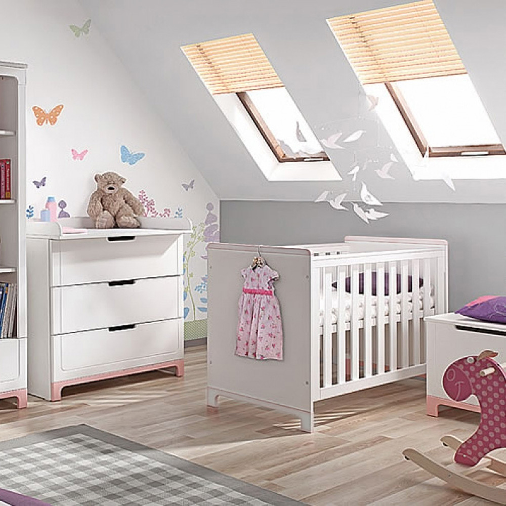 babybett kinderbett mini mit schlupfsprossen 70x140cm holz wei wandelbar dannenfelser. Black Bedroom Furniture Sets. Home Design Ideas