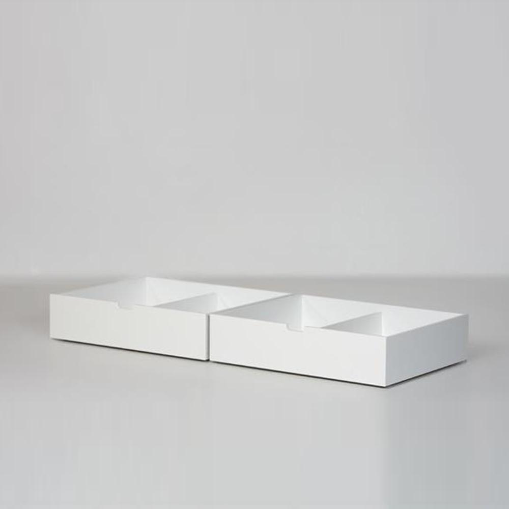 Manis H Bettschubladen 2er Set Weiß Für 90x200cm Betten