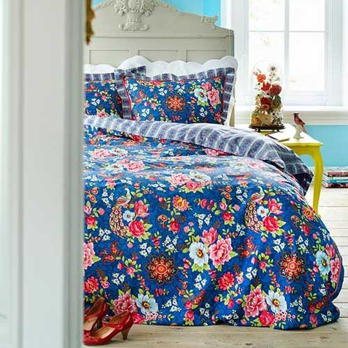 new pip bettw sche flowers in the mix blau 135x200. Black Bedroom Furniture Sets. Home Design Ideas